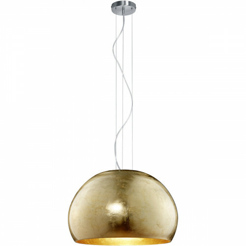 LED Hanglamp - Hangverlichting - Trion Onutia - E27 Fitting - 1-lichts - Rond - Mat Goud - Aluminium