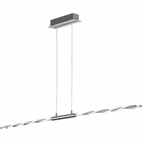 LED Hanglamp - Trion Partino - 28W - Warm Wit 3000K - 4-lichts - Dimbaar - Rechthoek - Glans Chroom - Aluminium