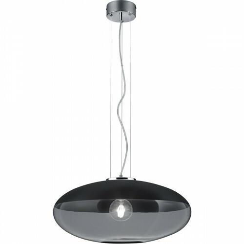 LED Hanglamp - Trion Portony XL - E27 Fitting - Rond - Mat Zwart - Aluminium