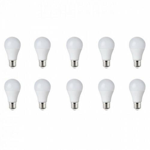 LED Lamp 10 Pack - E27 Fitting - 12W - Helder/Koud Wit 6400K