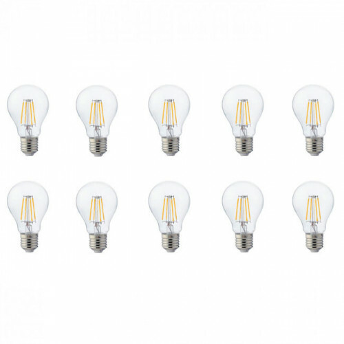 LED Lamp 10 Pack - Filament - E27 Fitting - 8W - Natuurlijk Wit 4200K