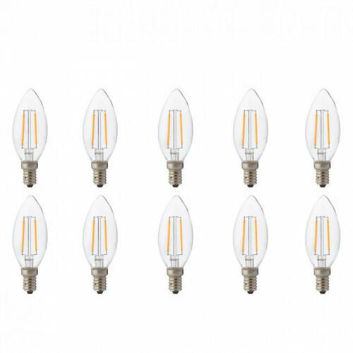 LED Lamp 10 Pack - Kaarslamp - Filament - E14 Fitting - 2W - Natuurlijk Wit 4200K