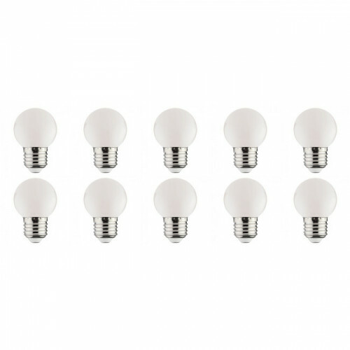 LED Lamp 10 Pack - Romba - Wit Gekleurd - E27 Fitting - 1W