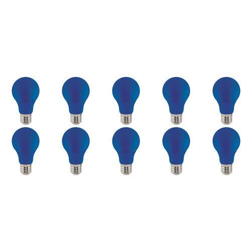 LED Lamp 10 Pack - Specta - Blauw Gekleurd - E27 Fitting - 3W