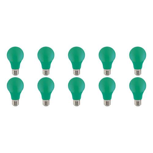 LED Lamp 10 Pack - Specta - Groen Gekleurd - E27 Fitting - 3W