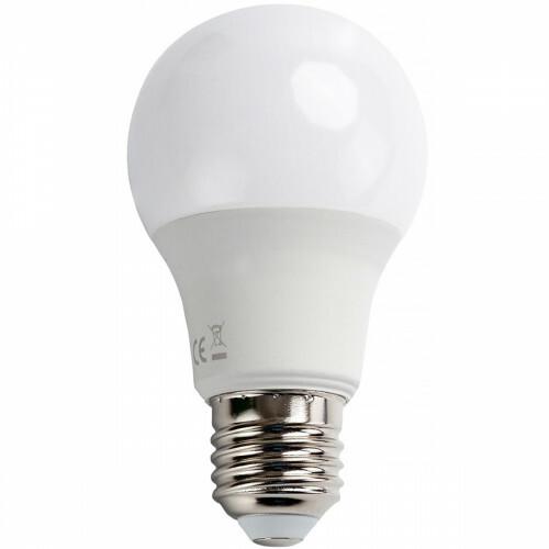 LED Lamp - Dag en Nacht Sensor - Aigi Lido - A60 - E27 Fitting - 8W - Warm Wit 3000K - Wit