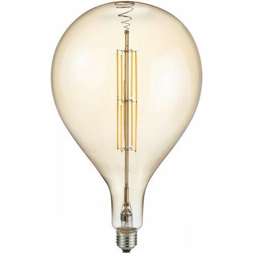 LED Lamp - Design - Trion Tropy DR - Dimbaar - E27 Fitting - Amber - 8W - Warm Wit 2700K