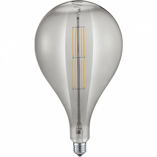 LED Lamp - Design - Trion Tropy DR - Dimbaar - E27 Fitting - Rookkleur - 8W - Warm Wit 2700K
