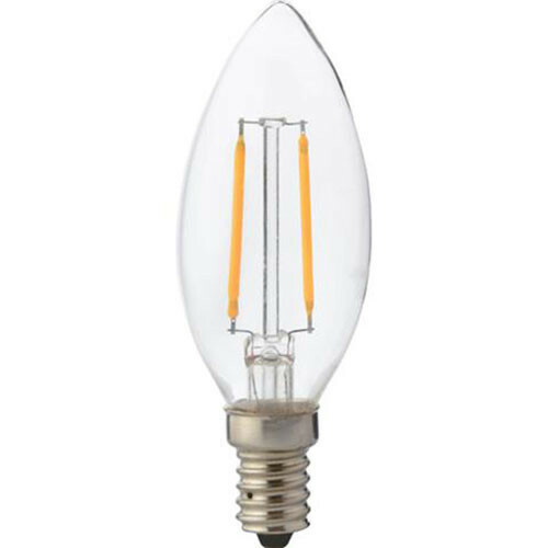 LED Lamp - Kaarslamp - Filament - E14 Fitting - 2W - Warm Wit 2700K