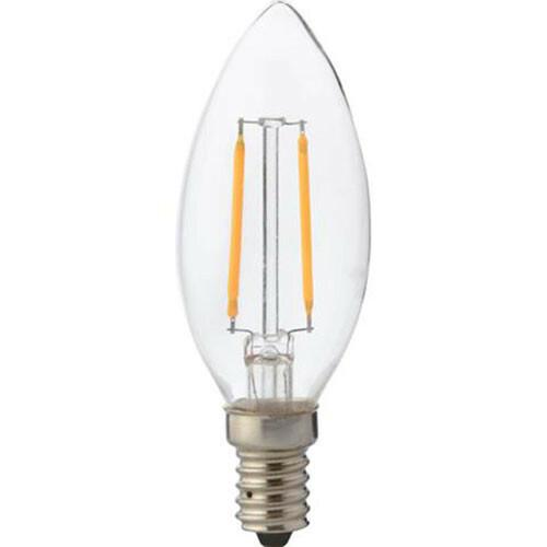 LED Lamp - Kaarslamp - Filament - E14 Fitting - 4W - Warm Wit 2700K
