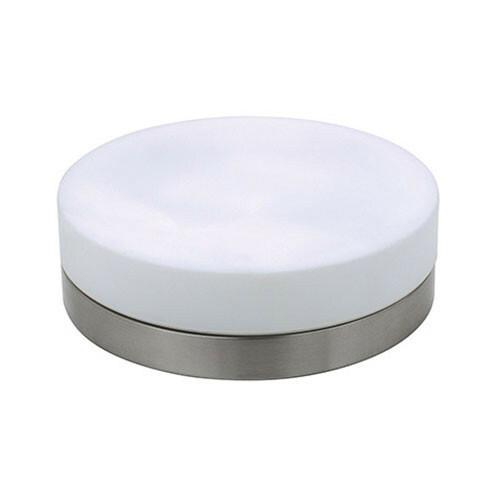 LED Lamp - Opbouw Rond - E27 - Mat Chroom Aluminium - Ø285mm