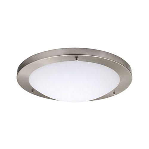 LED Lamp - Opbouw Rond - E27 - Mat Chroom Aluminium - Ø330mm