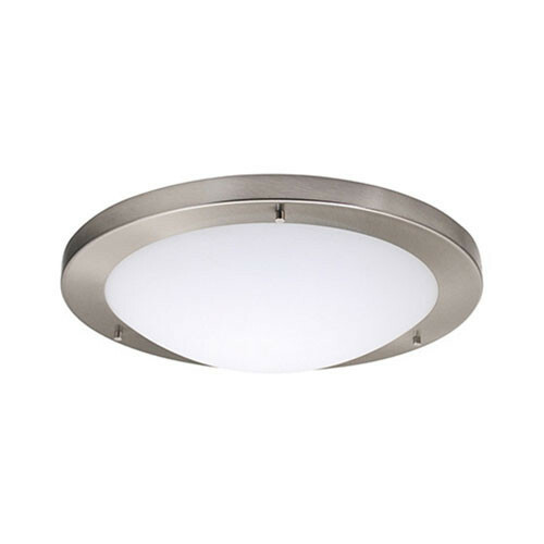 LED Lamp - Opbouw Rond - E27 - Mat Chroom Aluminium - Ø420mm