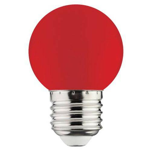LED Lamp - Romba - Rood Gekleurd - E27 Fitting - 1W