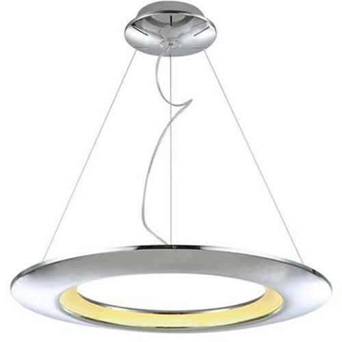 LED Plafondlamp - Plafondverlichting - Concepty - 35W - Natuurlijk Wit 4000K - Chroom Aluminium