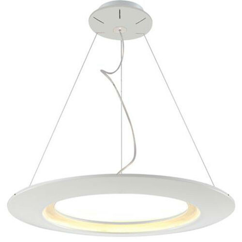 LED Plafondlamp - Plafondverlichting - Concepty - 35W - Natuurlijk Wit 4000K - Wit Aluminium