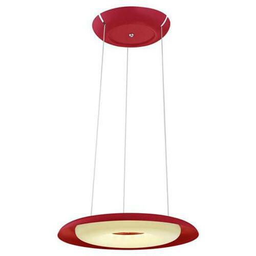 LED Plafondlamp - Plafondverlichting - Elegant - 35W - Natuurlijk Wit 4000K - Rood Aluminium