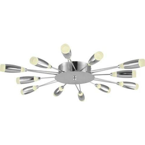 LED Plafondlamp - Plafondverlichting - Fave - 62W - Natuurlijk Wit 4000K - Chroom Aluminium