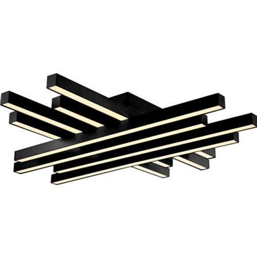 LED Plafondlamp - Plafondverlichting - Trendy - 85W - Natuurlijk Wit 4000K - Zwart Aluminium