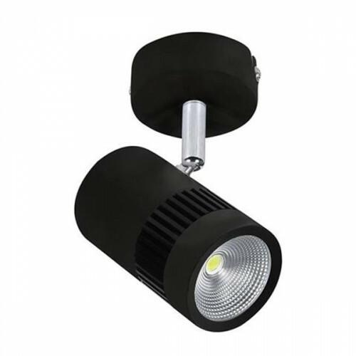 LED Opbouwspot - Plafondspot - 8W Rond - Draaibaar - Natuurlijk Wit 4200K - Mat Zwart Aluminium