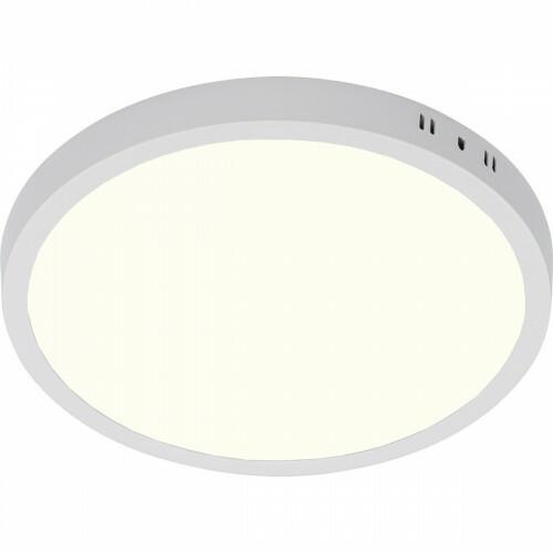 LED Paneel - Ø30 Natuurlijk Wit 4200K - 28W Opbouw Rond - Mat Wit - Flikkervrij