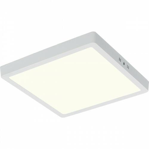 LED Paneel - 30x30 Natuurlijk Wit 4200K - 28W Opbouw Vierkant - Mat Wit - Flikkervrij