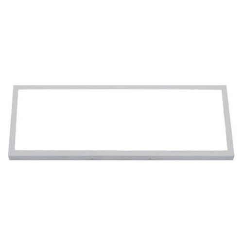 LED Paneel - 30x60 Helder/Koud Wit 6400K - 24W Opbouw Rechthoek - Mat Wit Aluminium