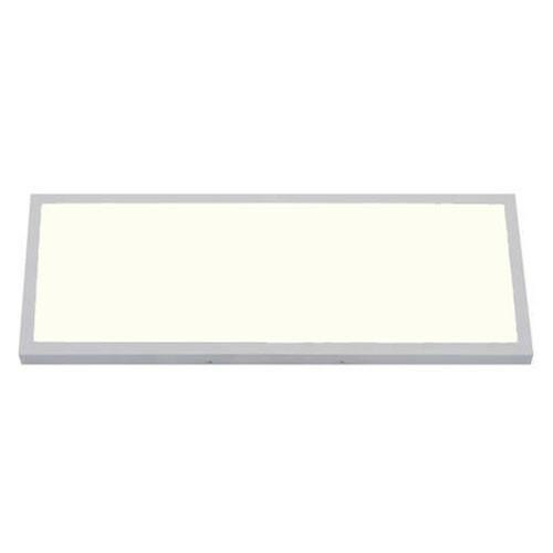 LED Paneel - 30x60 Natuurlijk Wit 4200K - 24W Opbouw Rechthoek - Mat Wit Aluminium