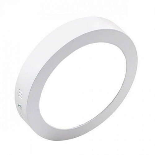 LED Downlight - Opbouw Rond 18W - Helder/Koud Wit 6000K - Mat Wit Aluminium - Ø225mm