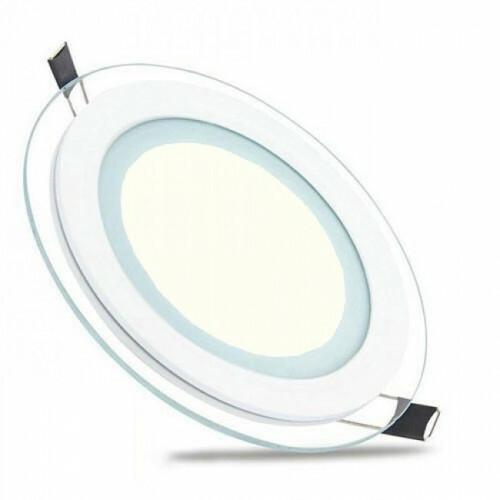 LED Downlight Slim - Inbouw Rond 15W - Natuurlijk Wit 4200K - Mat Wit Glas - Ø200mm