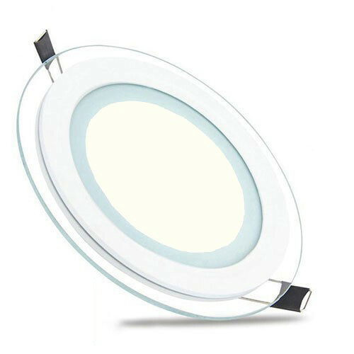 LED Downlight Slim - Inbouw Rond 12W - Natuurlijk Wit 4200K - Mat Wit Glas - Ø160mm