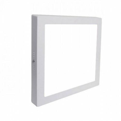 LED Downlight - Opbouw Vierkant 12W - Helder/Koud Wit 6000K - Mat Wit Aluminium - 170mm