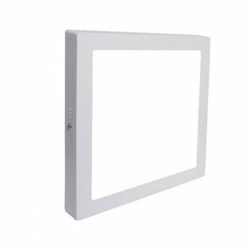 LED Downlight - Opbouw Vierkant 18W - Helder/Koud Wit 6000K - Mat Wit Aluminium - 225mm