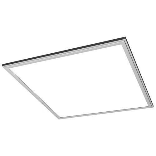 LED Paneel - 60x60 Helder/Koud Wit 6400K - 50W Inbouw Vierkant - Mat Zilver Aluminium
