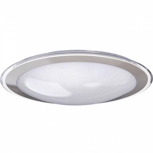 LED Plafondlamp - Aigi Yuro - 60W - Aanpasbare Kleur - Dimbaar - Afstandsbediening - Rond - Mat Zilver - Aluminium