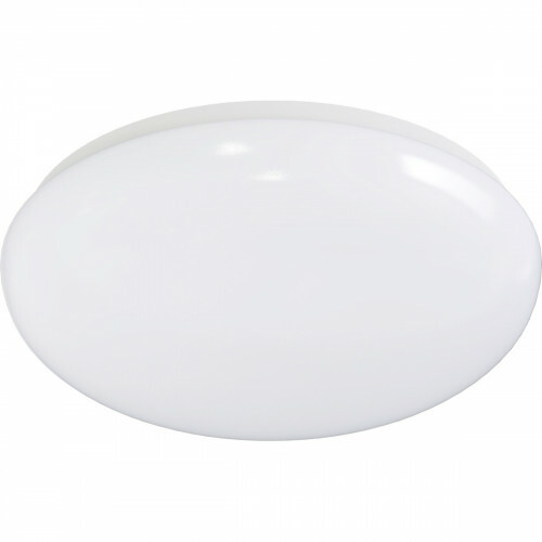 LED Plafondlamp - Aigi Arory - Opbouw Rond - 12W - Warm Wit 3000K - Mat Wit - Aluminium