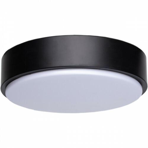LED Plafondlamp - Aigi Santi - Opbouw Rond 12W - Natuurlijk Wit 4000K - Mat Zwart Aluminium