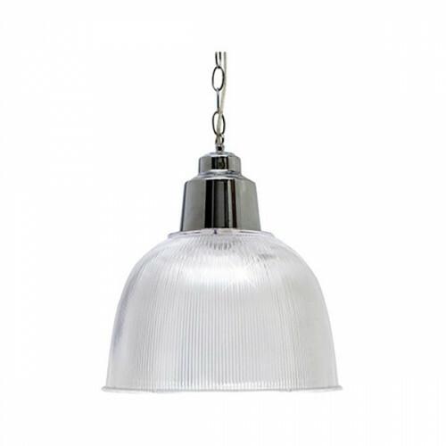 LED Plafondlamp - Industrieel - Rond Chroom - Aluminium/Kunststof - E27