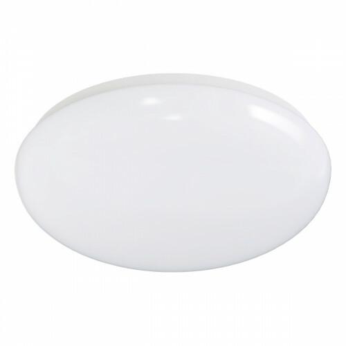 LED Plafondlamp met Bewegingssensor - Aigi - Opbouw Rond 12W - Helder/Koud Wit 6500K - 360° - Mat Wit Aluminium