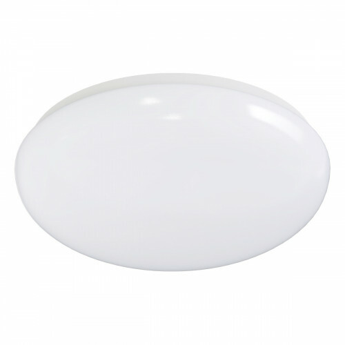 LED Plafondlamp met Bewegingssensor - Aigi - Opbouw Rond 12W - Warm Wit 3000K - 360° - Mat Wit Aluminium