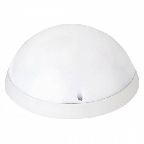 LED Plafondlamp met Bewegingssensor - Opbouw Rond 12W - Waterdicht IP54 - Helder/Koud Wit 6400K - 360° - Mat Wit Kunststof