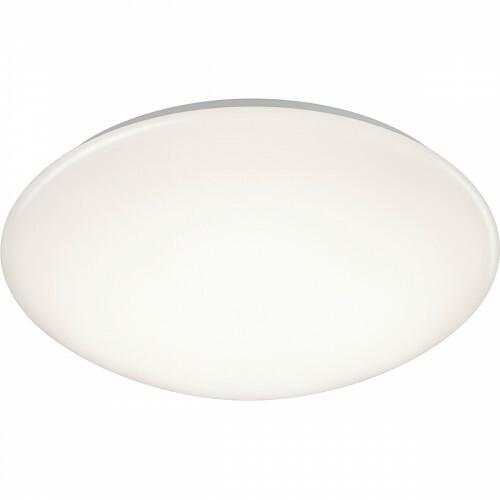 LED Plafondlamp met Bewegingssensor - Trion Poly - Opbouw Rond 12W - Spatwaterdicht IP44 - Warm Wit 3000K - 360° - Mat Wit