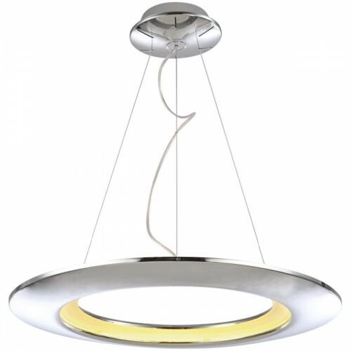 LED Hanglamp - Hangverlichting - Concepty - 41W - Natuurlijk Wit 4000K - Chroom Aluminium