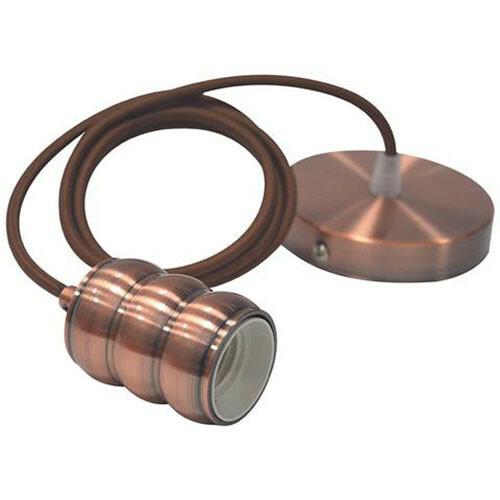 LED Plafondlamp - Plafondverlichting - Loft - Industrieel - Rond - Mat Koper Aluminium - E27