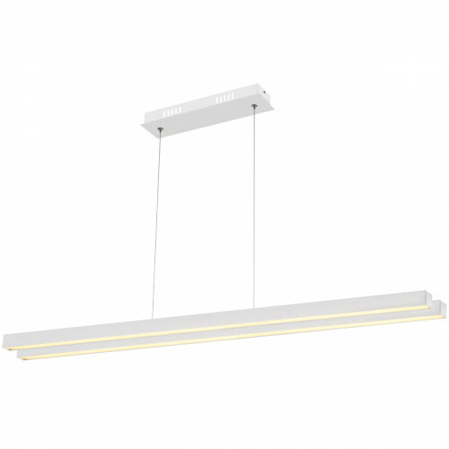 LED Plafondlamp - Plafondverlichting - Mater - 35W - Natuurlijk Wit 4000K - Wit Aluminium