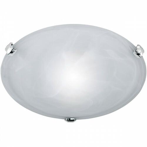 LED Plafondlamp - Plafondverlichting - Trion Adirona - E27 Fitting - Rond - Mat Nikkel - Aluminium