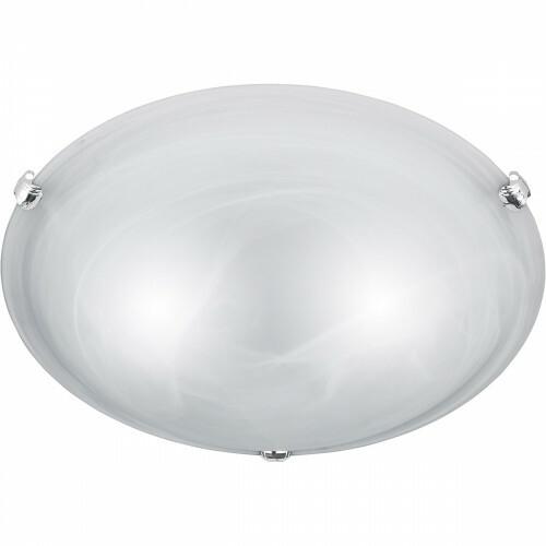 LED Plafondlamp - Plafondverlichting - Trion Adirona XL - E27 Fitting - Rond - Mat Nikkel - Aluminium