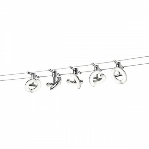 LED Plafondlamp - Plafondverlichting - Trion Avinano - 20W - Warm Wit 3000K - 5-lichts - Glans Chroom - Aluminium
