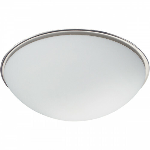 LED Plafondlamp - Plafondverlichting - Trion Balbo - E27 Fitting - 1-lichts - Rond - Mat Nikkel - Aluminium