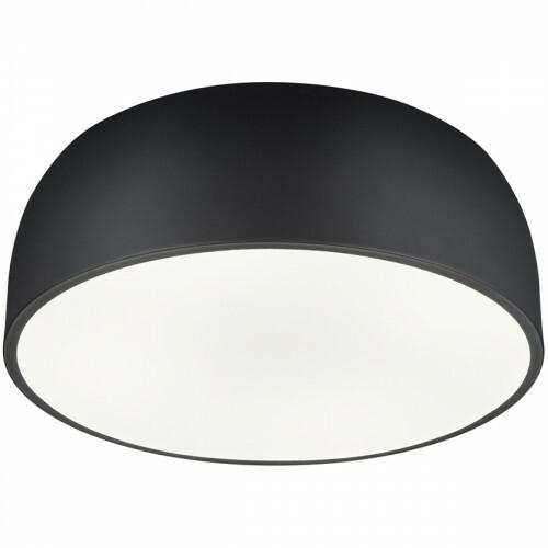 LED Plafondlamp - Plafondverlichting - Trion Barnon - E27 Fitting - 4-lichts - Rond - Mat Zwart - Aluminium